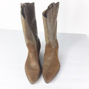 Acme Womens Brown Western Cowboy Boots